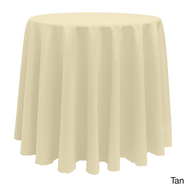 Solid Color 90 Inches Round Bright Colorful Tablecloth (Mauve), Pink
