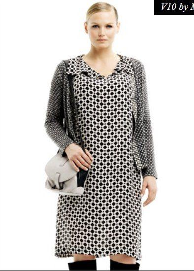 Marina Rinaldi collezione autunno inverno 2013 2014: la moda curvy in bianco e nero
