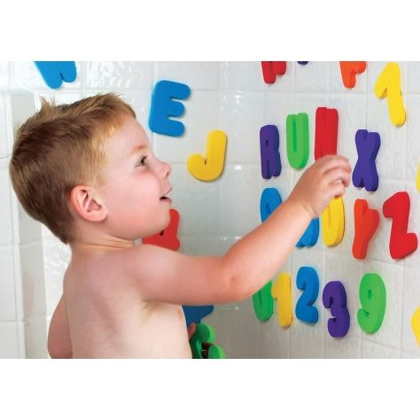 Make bath time fun and educational with this set of 26 foam letters and 10 numbers.  http://babyglitter.gr/4396-paixnidi-grammata-kai-ari8moi.html
