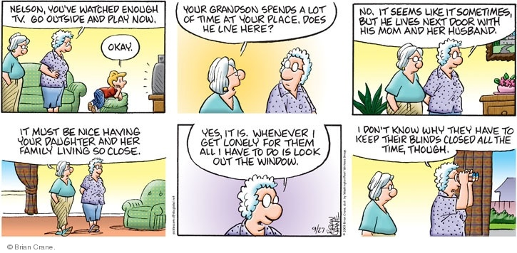 Free comic strip about retirement