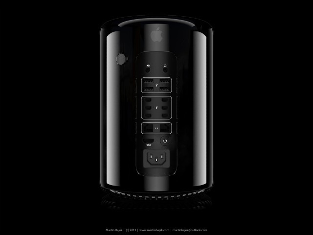 Renderings which I made of my new 3D model of the Mac Pro 2013! More info here:  http://www.martinhajek.com/portfolio/apple-mac-pro-2013/ #apple #mac #pro