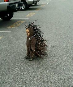 Homemade Porcupine Costumes....these are the BEST DIY Halloween Costume Ideas for Kids!