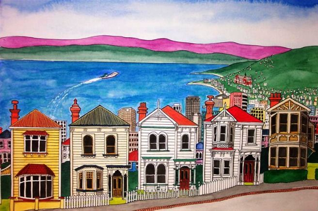 Check out Wellington - City with A View by Sarah Platt at New Zealand Fine Prints