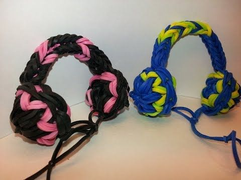 Headphones Charm Tutorial by feelinspiffy (Rainbow Loom) - http://rainbowloomsale.com/headphones-charm-tutorial-by-feelinspiffy-rainbow-loom/