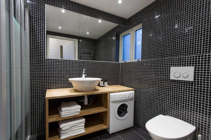 Washing Machine In Bathroom Boathouse Bathroom Pinterest