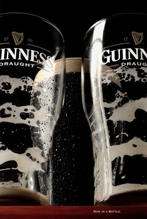 Guinness. Now in a bottle. (It's kind of a straight up rip off of every Absolut vodka as ever but it's still clever)