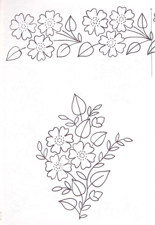 Рисунки из цветов для салфетки вышивка легкий