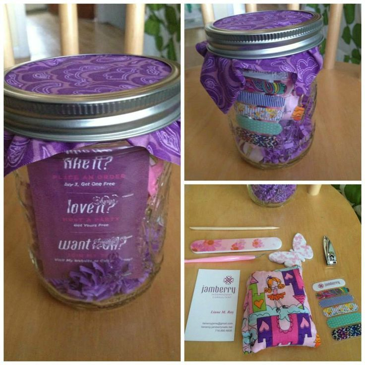 Jamberrry Gift idea! Jar with rice bag, nail accessories, and a Gift Card of your choice! http://jamswithandrea.jamberrynails.net/