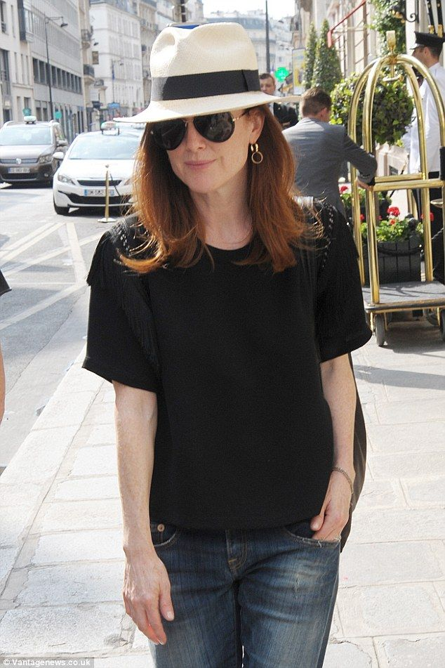 She loves Paris in Summer: Julianne Moore celebrated the July Fourth holiday on Saturday b...