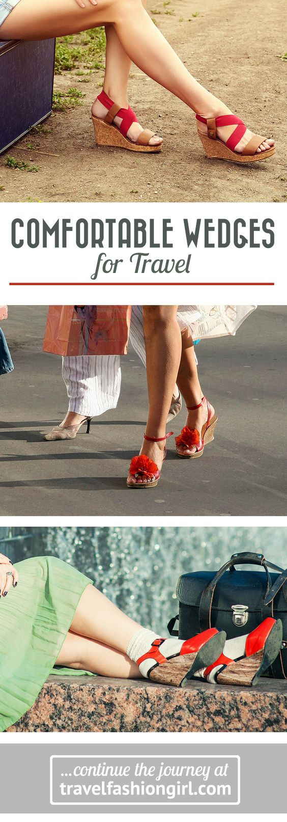 One of our readers asked us for the most comfortable wedges for travel so we turned to the experts: you! Find out the top ten wedges you recommended! http://travelfashiongirl.com/10-of-the-most-comfortable-wedges-for-travel-leave-the-heels-at-home/ via @travlfashngirl #packing #tips #travel