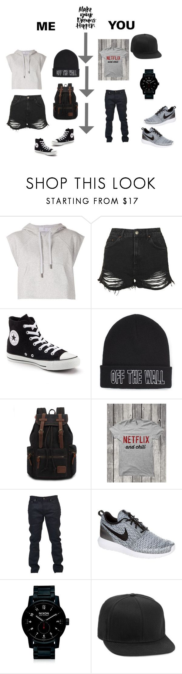 """Me&You"" by sduncan-i ❤ liked on Polyvore featuring adidas, Topshop, Converse, Vans, Yves Saint Laurent, NIKE, Nixon and Topman"