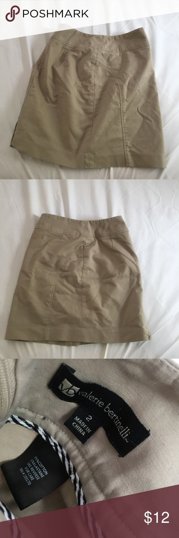 Valerie Bertinelli Tan Pencil Skirt Good condition. Nice material. Similar type to JCrew. Says Size 2. But fits me like a 4 J. Crew Skirts Pencil