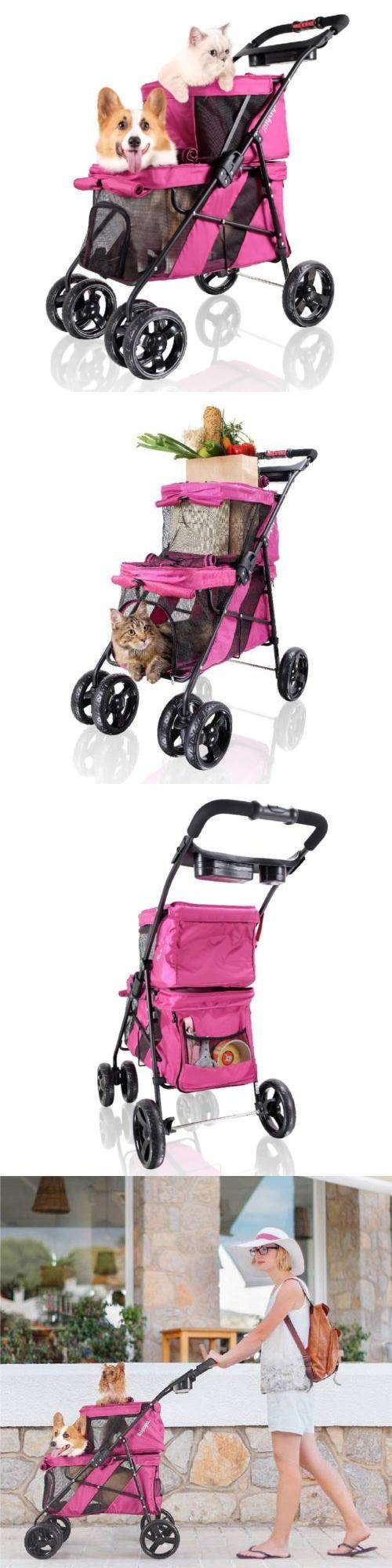Strollers 116380 Ibiyaya 4 Wheel Double Pet Stroller For