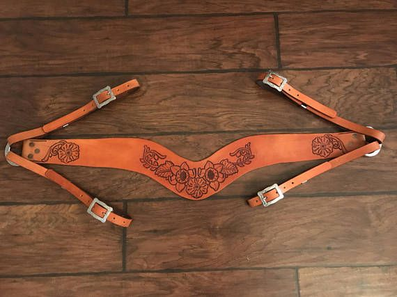 Buy what you see or made to order! Custom hand tooled, hand cut breast collars. Prices start at $80.00 depending on tooling and style.