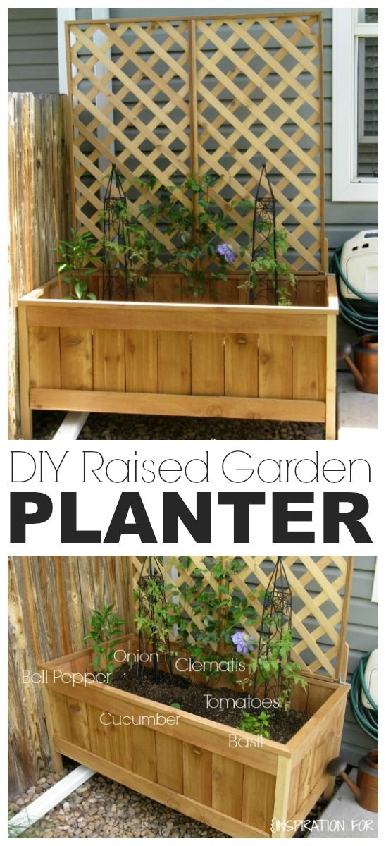 No space for a large garden? Learn how to make your own raised cedar garden planter with my easy tutorial. Perfect for balconies or small yards.