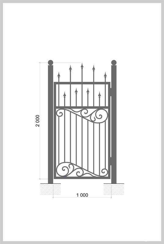 #Калитка / #Wrought_Iron_Doors  #gate Артикул:k_08 Ширина, мм:1000 Высота, мм:2000 Покрытие: Пентал Амор Цена: 14 900 руб./шт. Подробное описание на сайте. #Metalmade