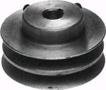 "Lawn Mower 5/8"" X 3-7/16"" Double Pulley Replaces BOBCAT/RANSOM 38183 OREGON 78-678 PRIME LINE 7-05335 SUNBELT B159404 SUNBELT B1SB6608"