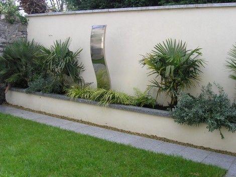 35 best garden wall images on pinterest garden walls for Rendered garden wall designs