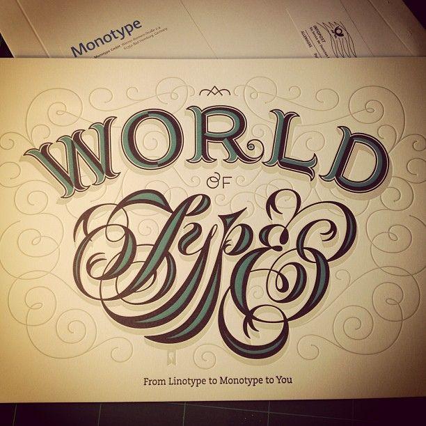 Typographic gift #Monotype #Jessica Hische by Eduardo Manso, via Flickr