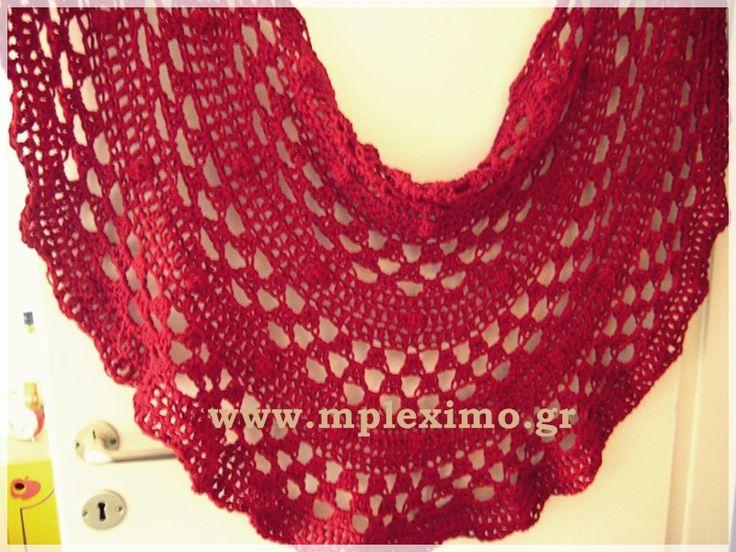 crochet half moon shawl