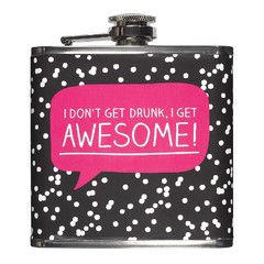 Awesome Hip Flask Happy Jackson - Mzube Cool Gift Ideas