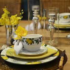 Conjunto de chá limão