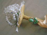Ramo de cristal y broches modelo Jaula de Hielo y Camelia