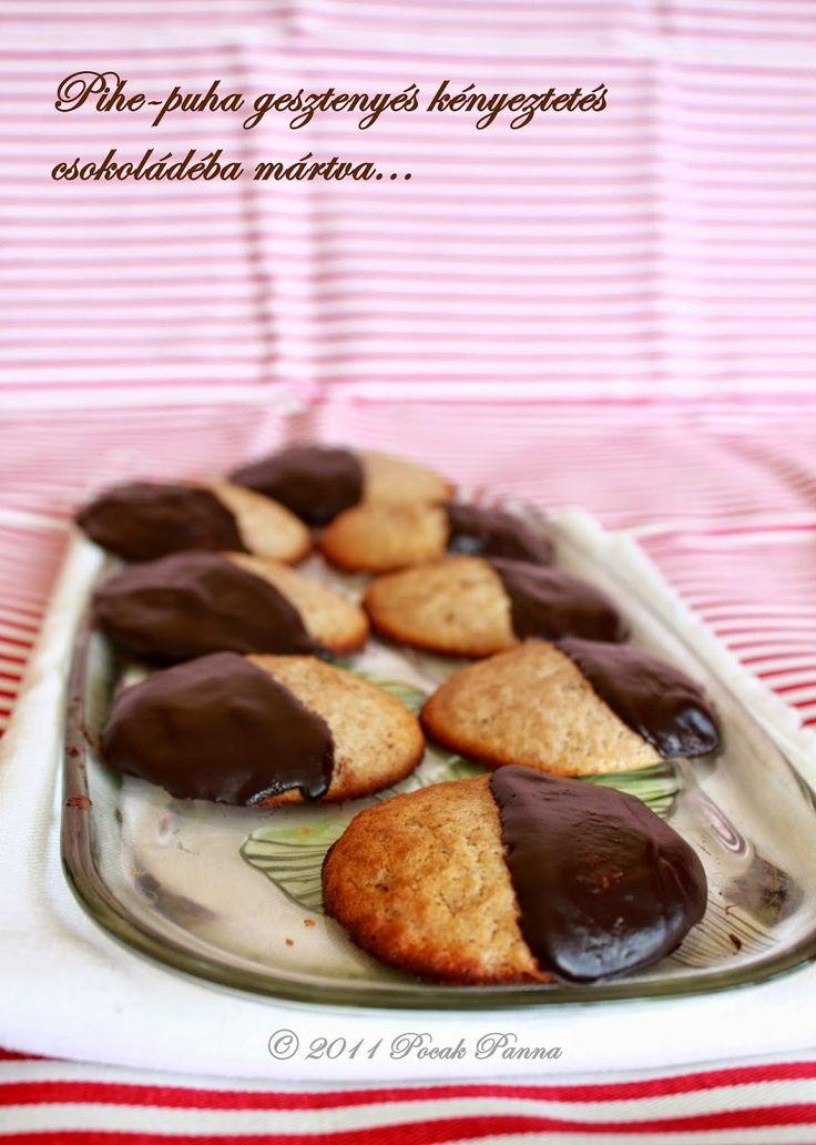 Pocak Panna paleo konyhája: Lisztmentes, pihe-puha gesztenyés-csokoládés kekszek (paleo)