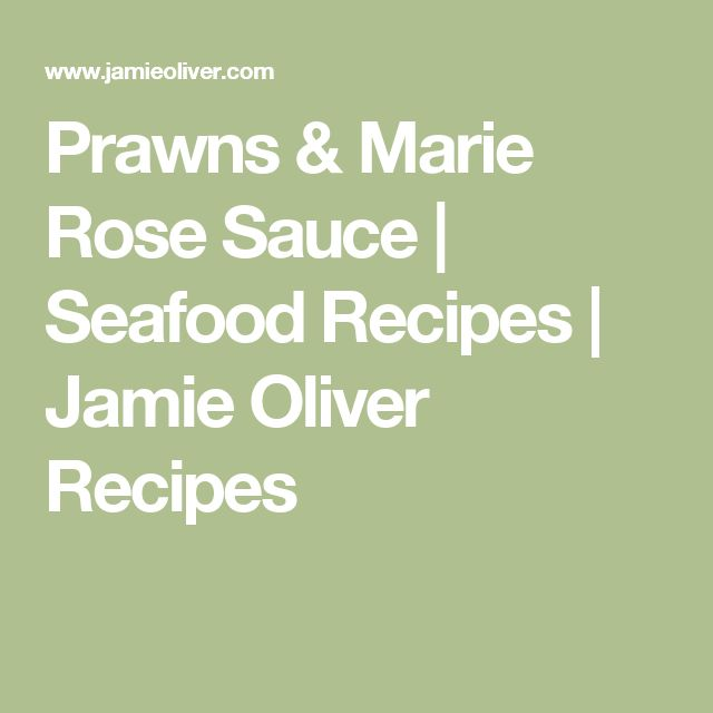 Prawns & Marie Rose Sauce | Seafood Recipes | Jamie Oliver Recipes