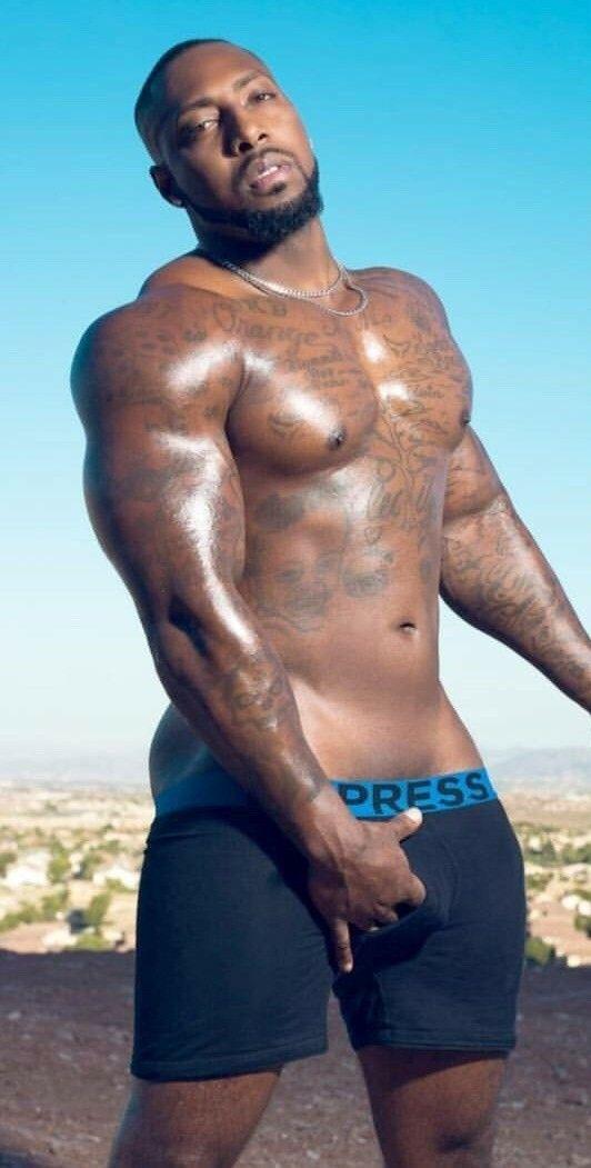 Buff black gay men