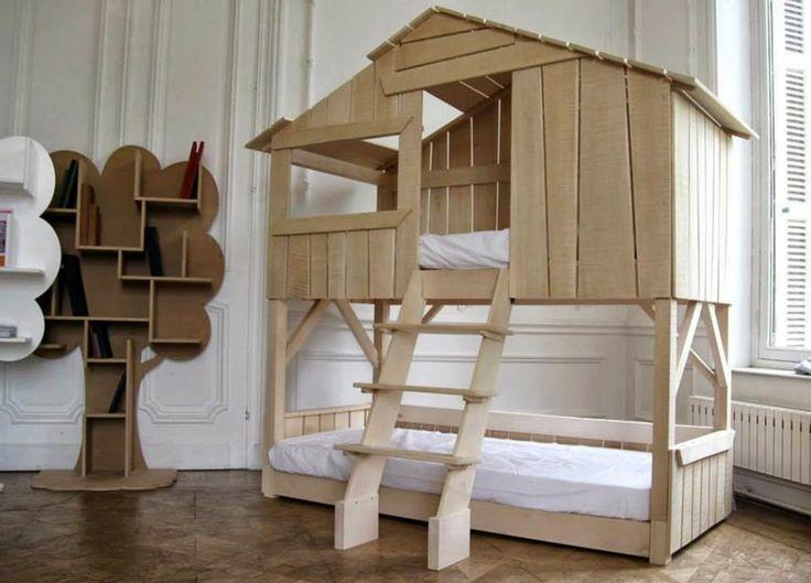 als kind trumte ich immer davon ein wunderschnes bett zu haben aber leider hatte ich niemals mehr als eine sehr einfache schlafstelle - Einfache Hausgemachte Etagenbetten