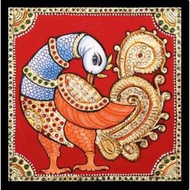 Dazzling Swan Tanjore Painting