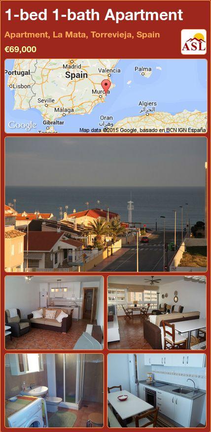 1-bed 1-bath Apartment in Apartment, La Mata, Torrevieja, Spain ►€69,000 #PropertyForSaleInSpain