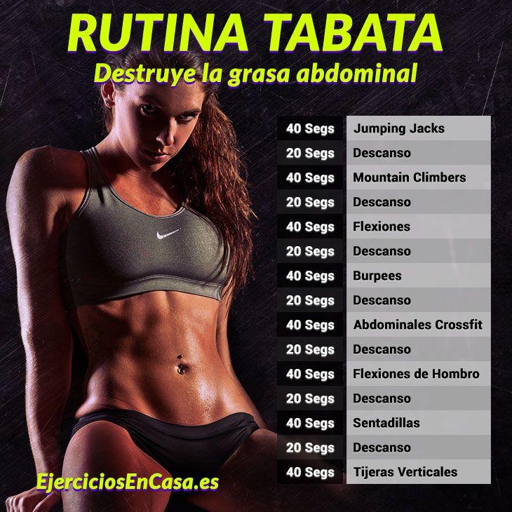 La mejor rutina de ejercicios para quemar grasa abdominal