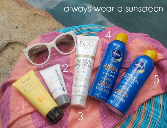 My number one skincare rule is: Always wear a sunscreen. What sunscreen you choose will depend on your lifestyle but these tips will help you stay sun safe.