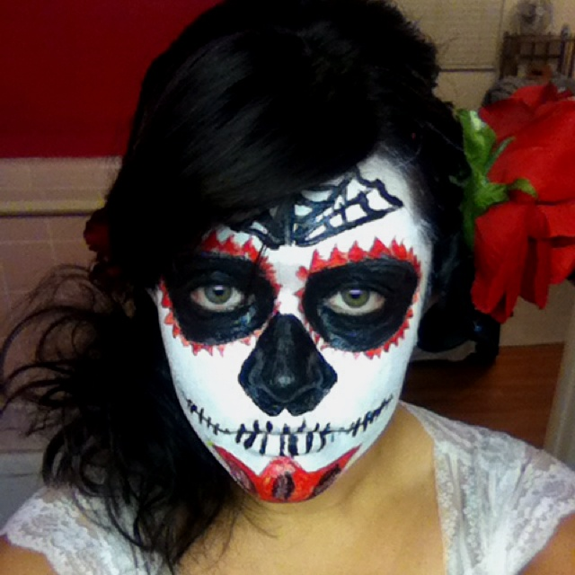 Day of the dead make up for my costume this year.