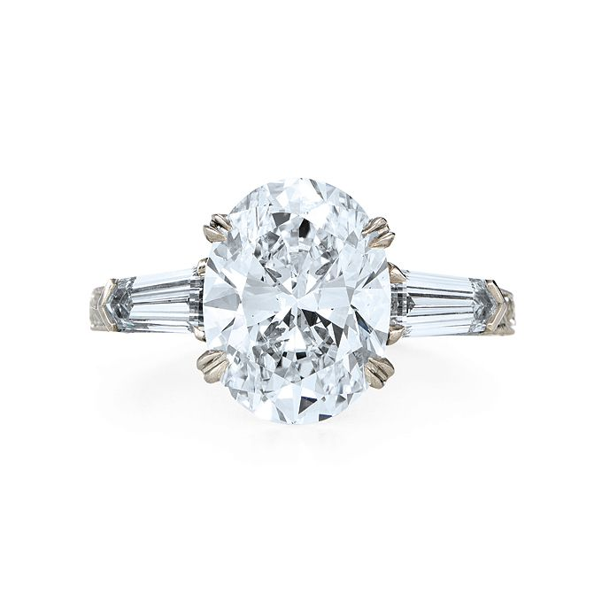 40 Best Oval Cut Engagement Rings Images On Pinterest