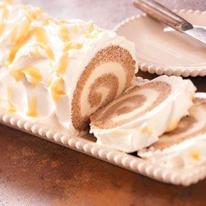 Applesauce Ice Cream Cake Roll Recipe | Taste of Home Recipes