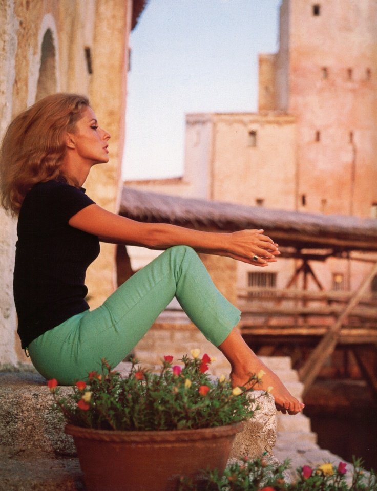 Dolores Guinness- Sardinia  Slim Aarons