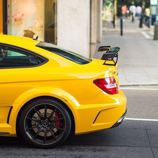 Striking a pose! The C 63 AMG Coupé Black Series. Photo shot by @arthurh_photography.   #C63AMGCoupe #MercedesAMG #AMG #MercedesBenz #mbcar #CClass #BlackSeries #C63AMG #carphotography