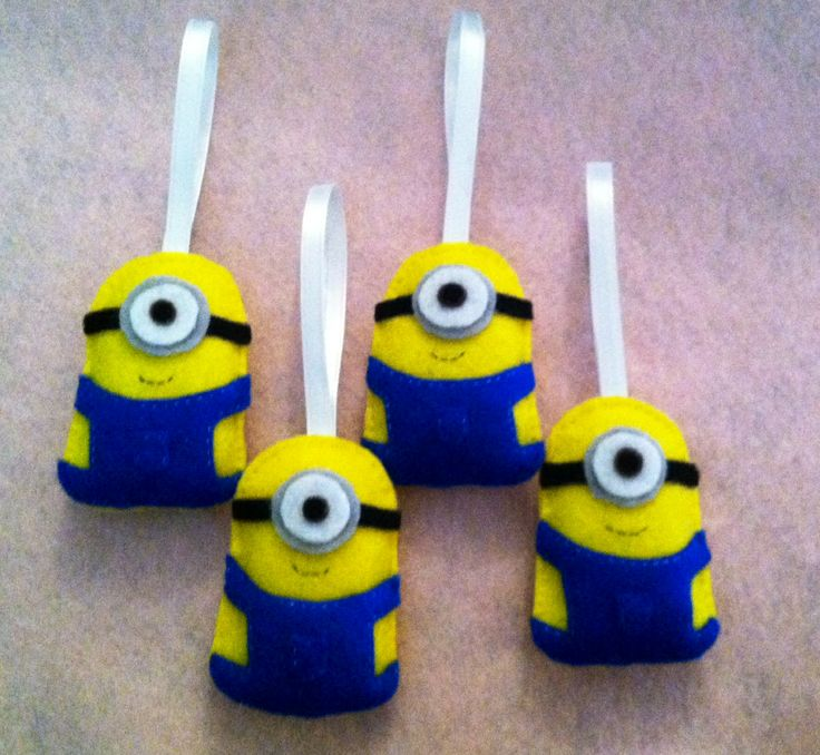 handmade minion ornaments - made by me
