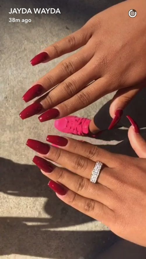 25+ Best Ideas About Long Red Nails On Pinterest