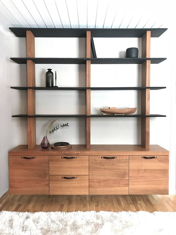 Bookshelf in walnut, valchromat. DIY, redesigned sideboard, home office, storage. Valnöt och valchromat, bokhylla, hemmakontor, förvaring.