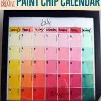 Paint chip crafts are fun and cheap. You can make a lot of DIY craft projects with these colorful swatches.  Keep track of your hectic schedule with this reusable dry-erase calendar that's made out of paint swatches or paint chips! You'll never have to buy a calendar again! This DIY