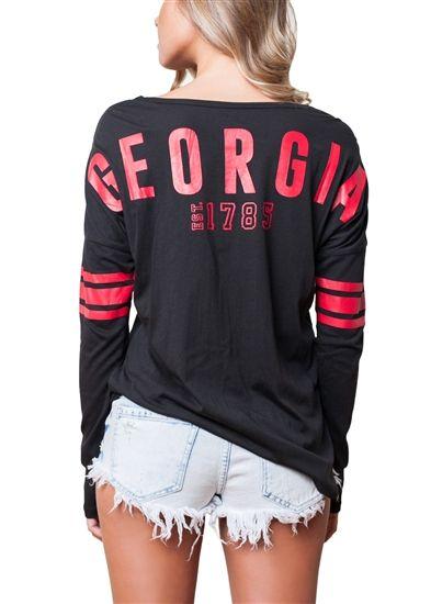 University of Georgia Bulldogs Womens Spirit Football Jersey