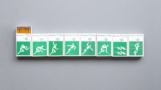 Matchboxes from the 1972 Olympic Games