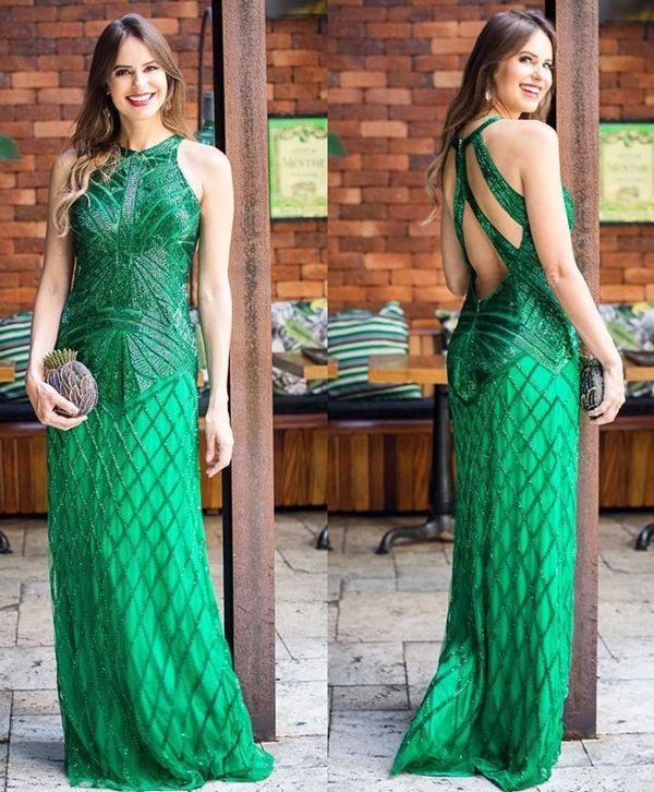 Vestido verde para formatura 2019