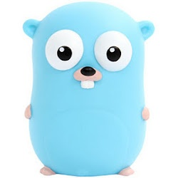 The mascot for Go, a modern machine compiled programming language. It is a blue gopher. (golang.org) ❏