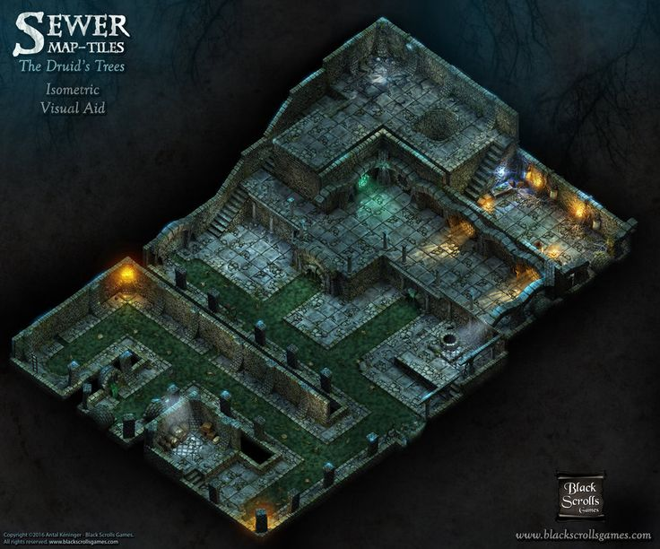 Sewer Map-tiles, The Druid's Trees (Visual Aid) by BSGTony
