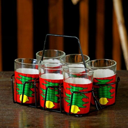 Set of 6 Hand Painted Tea Serving Glassesr or candle holder http://www.craftsvilla.com/catalog/product/view/id/286818/s/set-of-6-hand-painted-tea-serving-glassesr-or-candle-holde-flower-theme-tgnm-a-muhenera-collection/